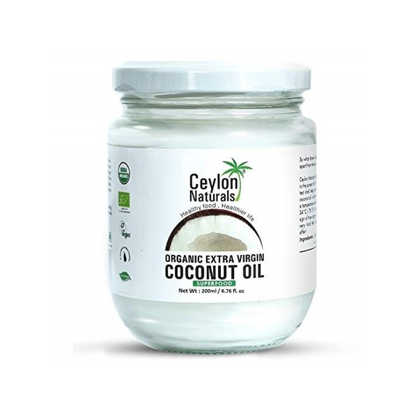 Ceylon Naturals Organic Extra Virgin Coconut Oil 200ml