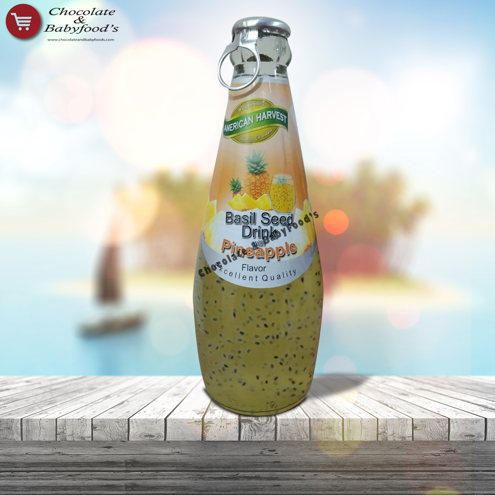 American Harvest Basil Seed Drink with Pineapple