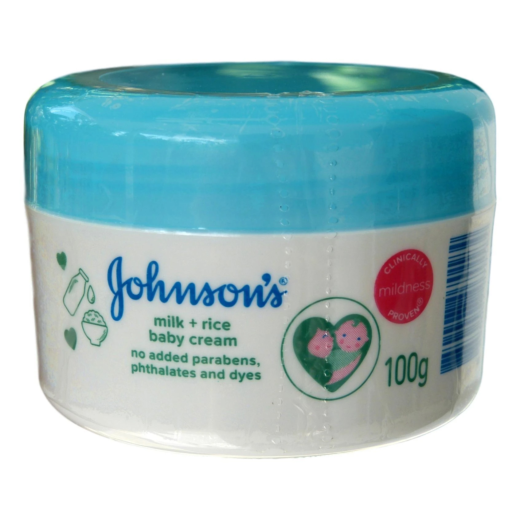 Johnson's Milk + Rice Baby Cream 100g
