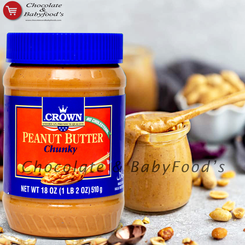 Crown Peanut Butter Chunky 510g