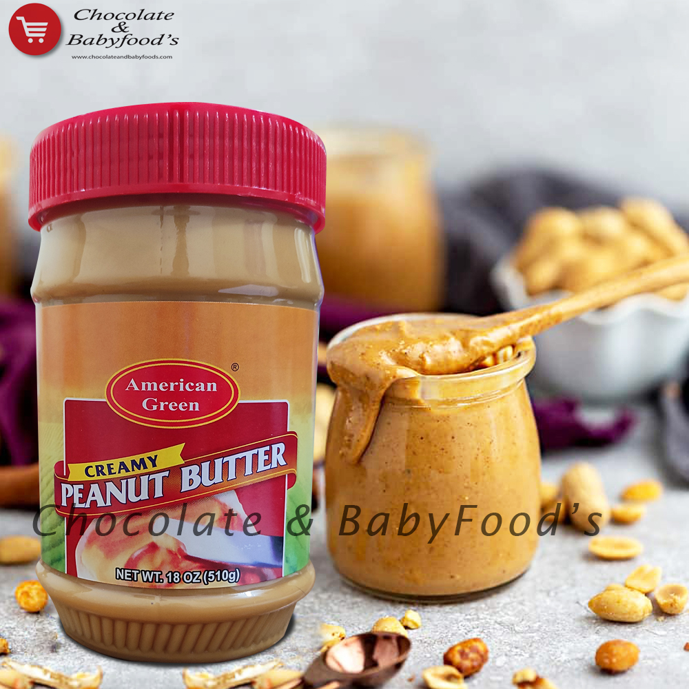 America Green Creamy Peanut Butter 510g