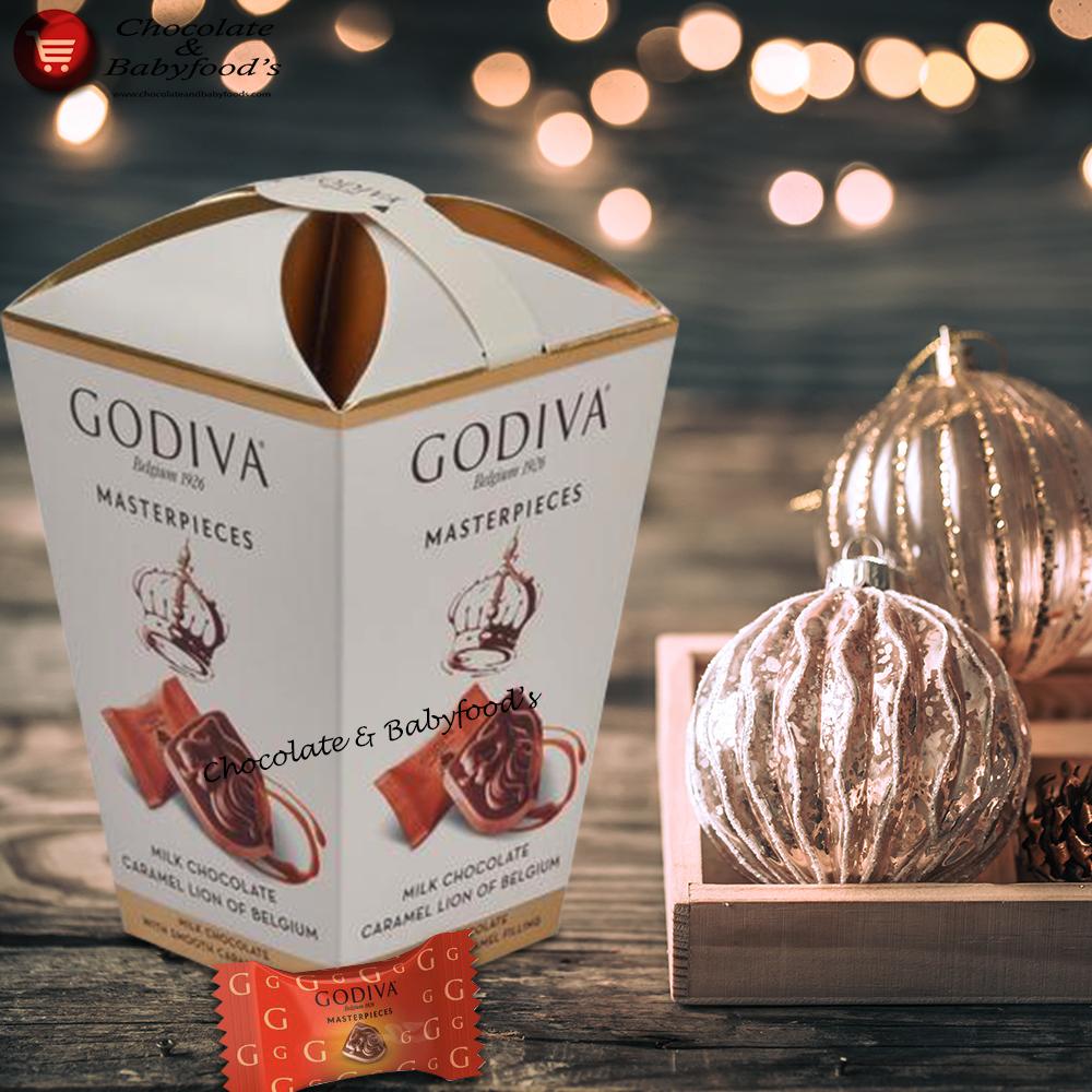 Godiva Masterpieces Milk Chocolate Caramel Lion 119g
