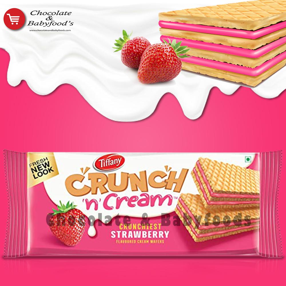 Tiffany Crunchy n Cream Strawberry Wafers153g