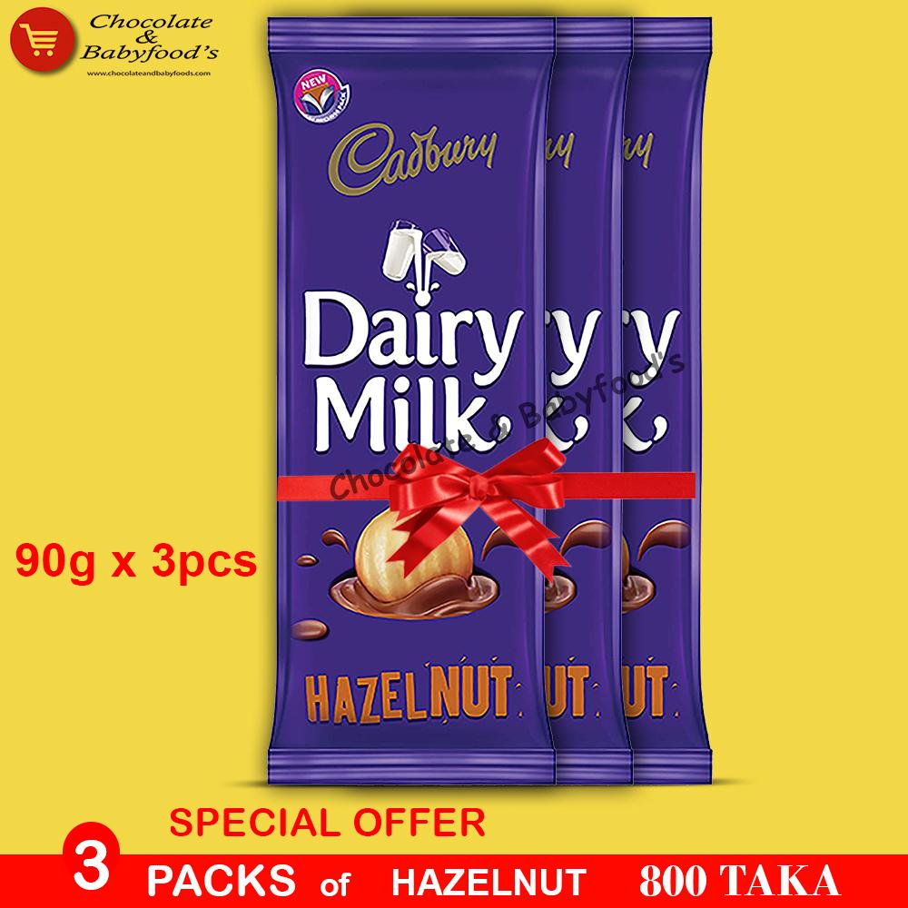 Cadbury Dairy Milk Hazelnut 3pcs pack
