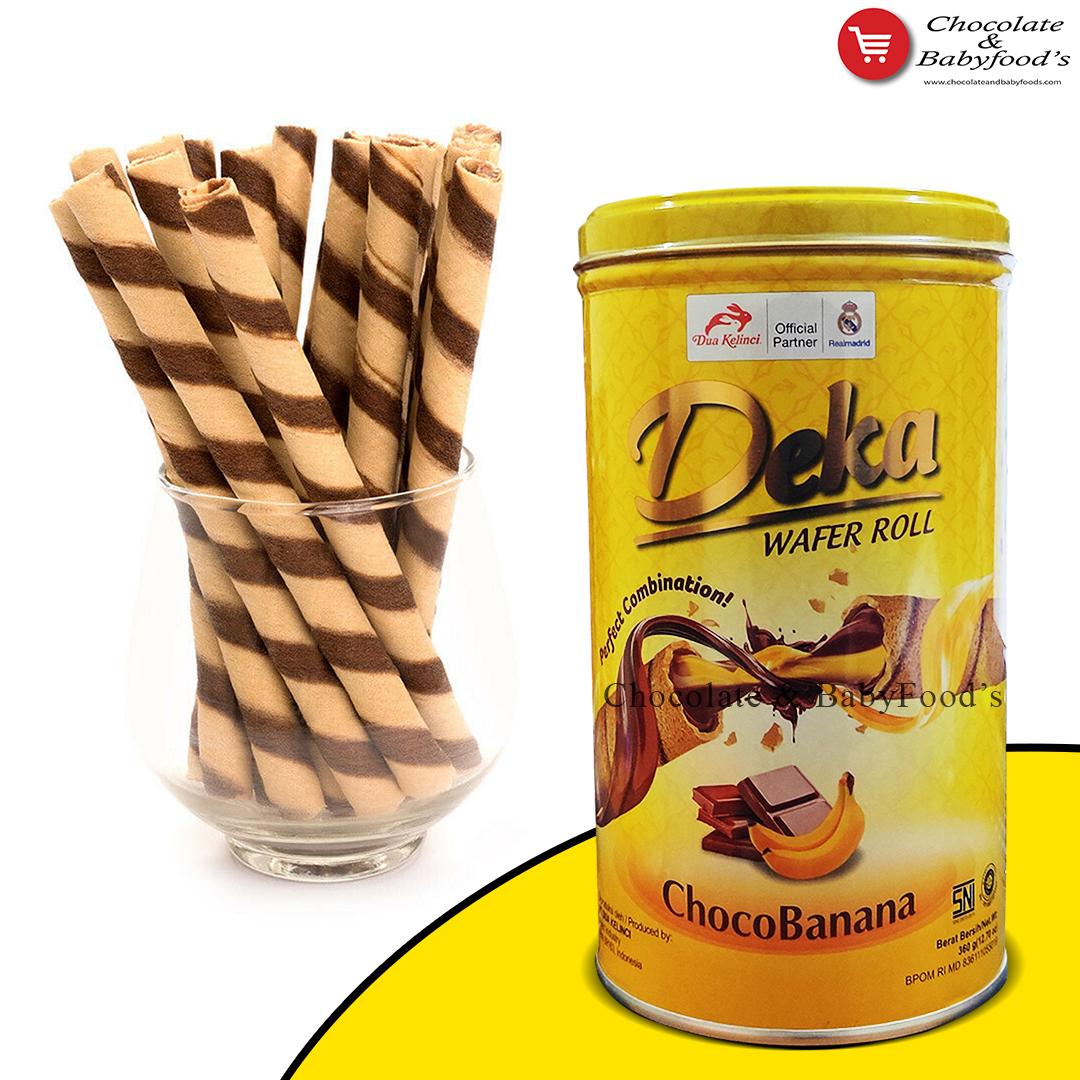 Deka Choco Banana Wafer Rool 360g