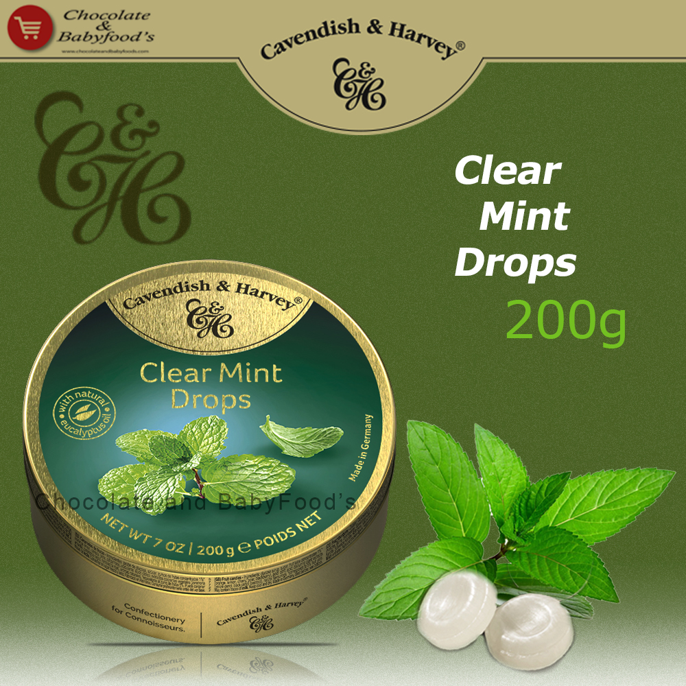 Cavendish & Harvey Clear Mint drops