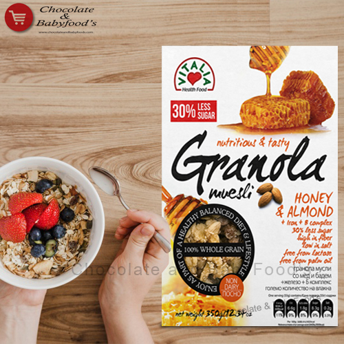 Vitalia 30% less Sugar Granola muesli Honey & Almond 500g
