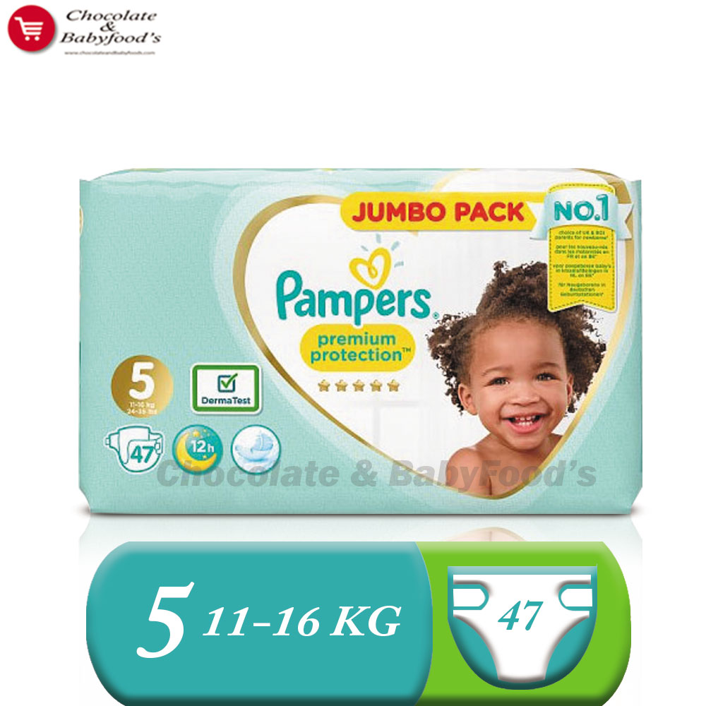 Pampers Jumbo pack Premium Protection Size- 5 (Diaper Belt)