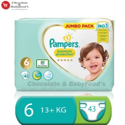 Pampers premium protection jumbo pack size-6