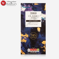 Tesco Classic 74% Cocoa Dark Chocolate Bar