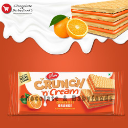 Tiffany Crunchy n Cream Orange Wafers 76g