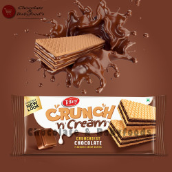 Tiffany Crunchy n Cream Chocolate Wafers 76g