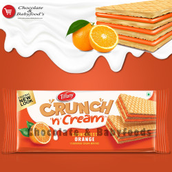 Tiffany Crunchy n Cream Orange Wafers 153g