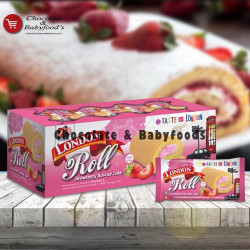 London Roll Strawberry Flavor Cake