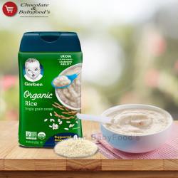 Gerber Organic Rice Cereal 227g