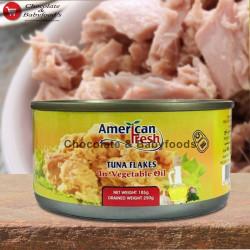 American Fresh Tuna Flakes in Vegetables Oil 185g