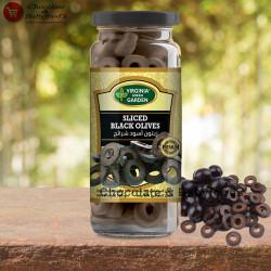 Virginia Green Garden sliced Black Olives 340g