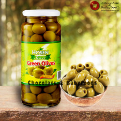 Hosen Green Olives Whole 350g