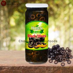 Hosen Black Olives Sliced 345g