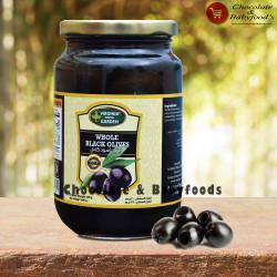 Virginia Green Garden Whole Black Olives 360g