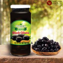 Hosen Black Olives Whole 350g