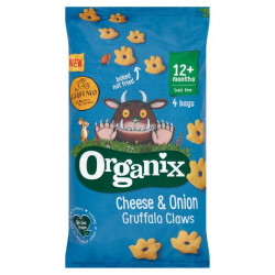 Organix Cheese & Onion Gruffalo Claws 4X15g