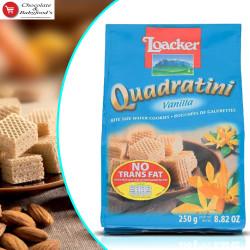 Loacker Quadratini Vanilla Wafer 250g