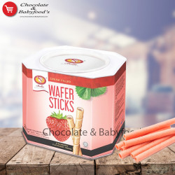 Bellie Wafer Sticks Strawberry Flavoured Cream 400g