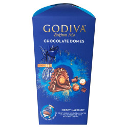 Godiva Crispy Hazelnut Chocolate Domes 150g