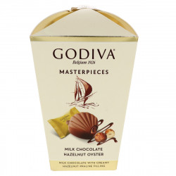 Godiva Masterpieces Milk Chocolate Hazelnut Oyster