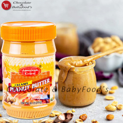 American Green Creamy Peanut Butter Roasted Honey Nut 510g