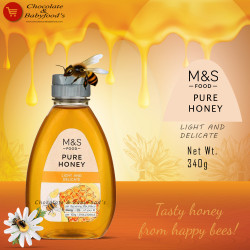 M&S Food Pure Honey Light and Delicate 340g