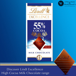 Lindt Excellence 55% Milk Chocolate Cocoa Bar 80g