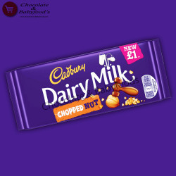 Cadbury Chopped Nut Chocolate Bar 95g