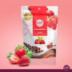 Elit Strawberry Milk chocolate covered 125g