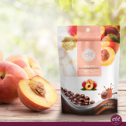 Elit Peach Milk Chocolate Covered 125g