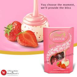Lindt Lindor Strawberry & Cream 200g