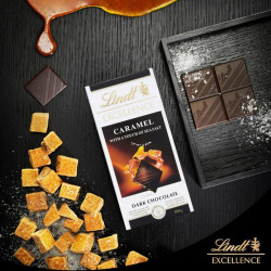 Lindt Excellence Caramel With Touch Of Sea Salt 100G
