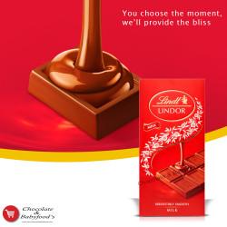 Lindt Lindor Milk Chocolate Bar 100g
