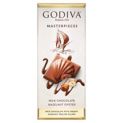 Godiva Masterpieces Milk Chocolate Hazelnut Oyster Bar 83g