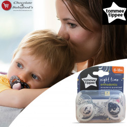 Tommee Tippee Night Time Orthodontic Soother 6-18m