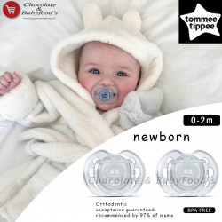 Tommee Tippee Newborn Orthodontic Soother 0-2m