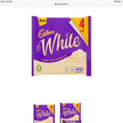 Cadbury White 4bars 148g