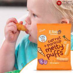 Ella's Kitchen Carrot + Parsnip Melty Puffs