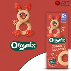 Organix Strawberry Baby Biscuits 10+