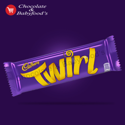 Cadbury Twirl milk chocolate bar 50 gm (Each)