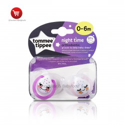 Tommee tippee night time orthodontic soother 0-6mnth