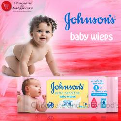Johnson's extra sensitive baby wipes 56pc's